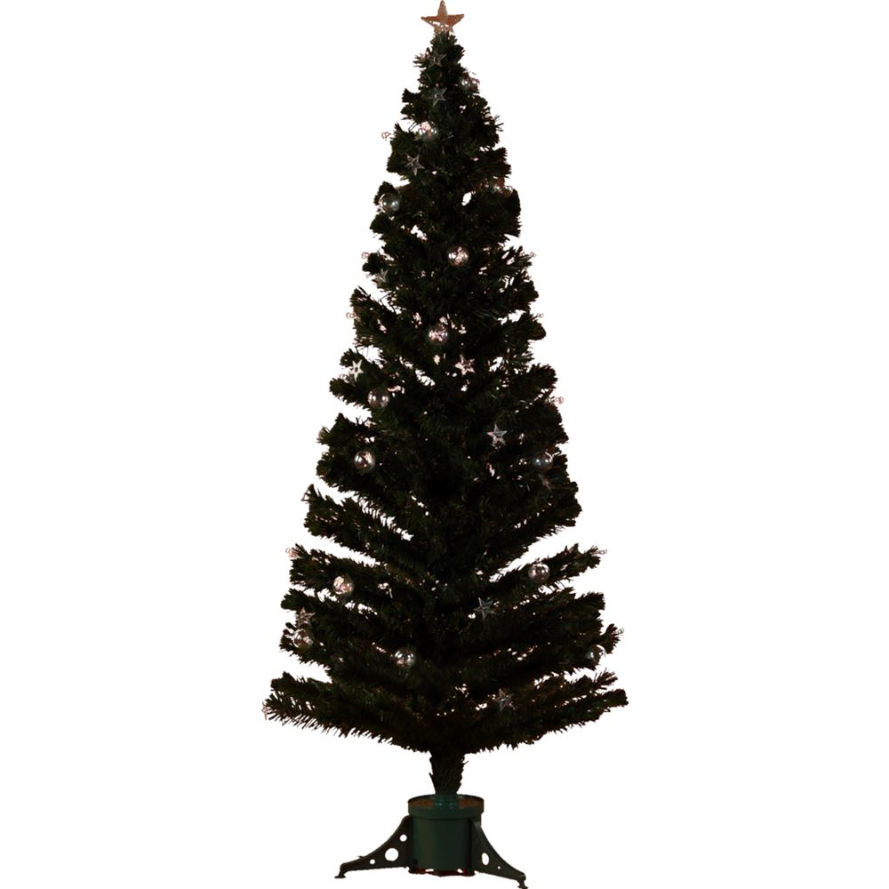 Bauble Fibre Optic Tree 210Cm