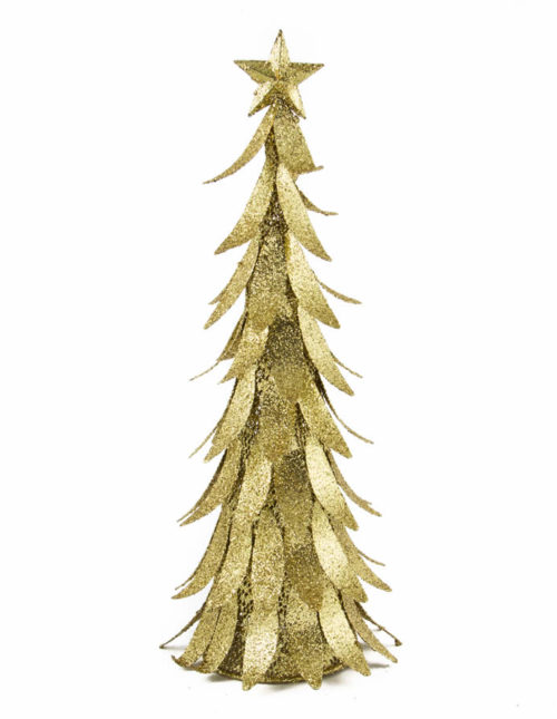Gold Glitter Metal Tree 40cm