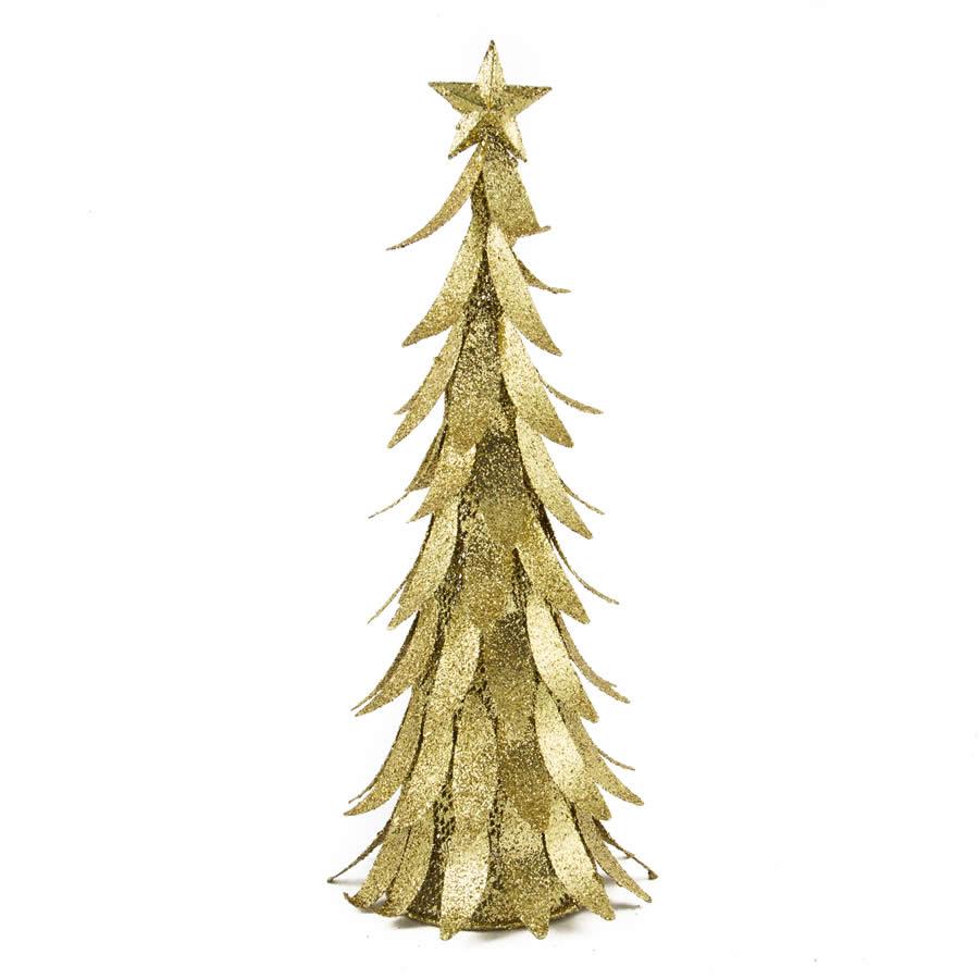 Gold Glitter Metal Tree 40cm