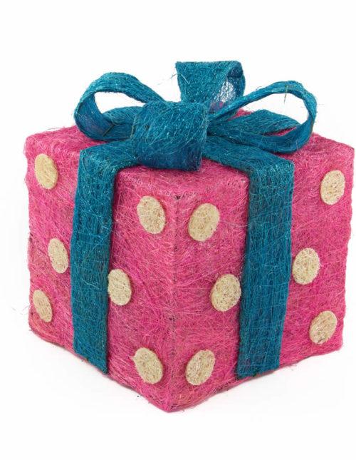 red Polka Dots Sisal Gift Box