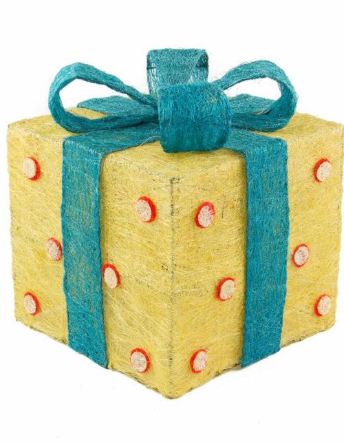 Polka Dots Sisal Gift Box