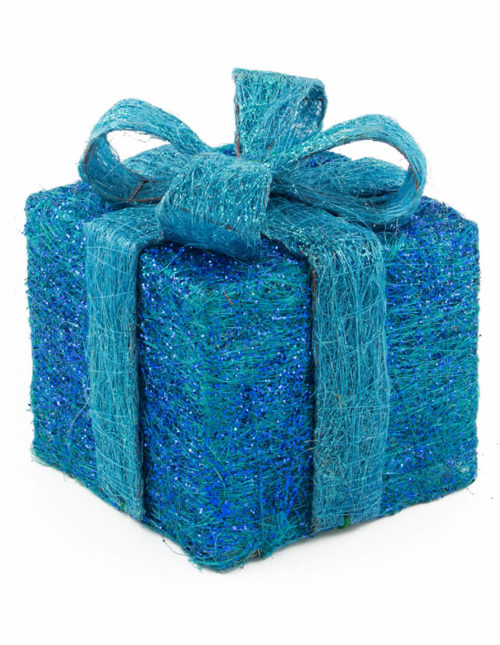 Purple Sisal Gift Box - 15cm