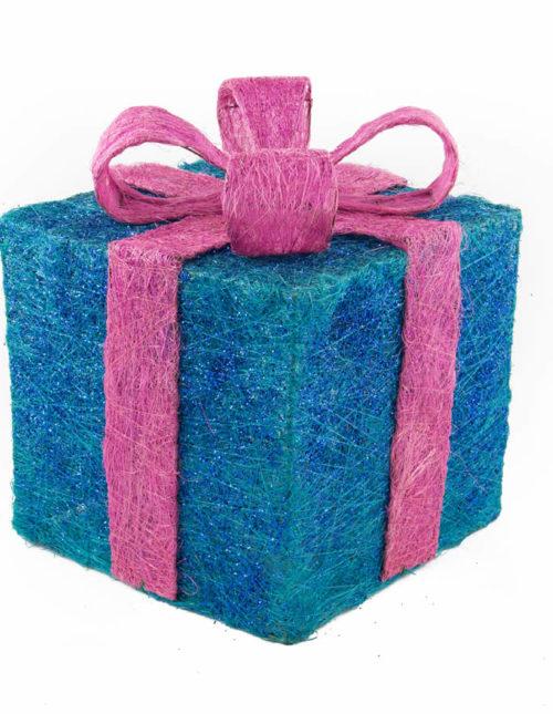 Purple Sisal Gift Box - 25cm