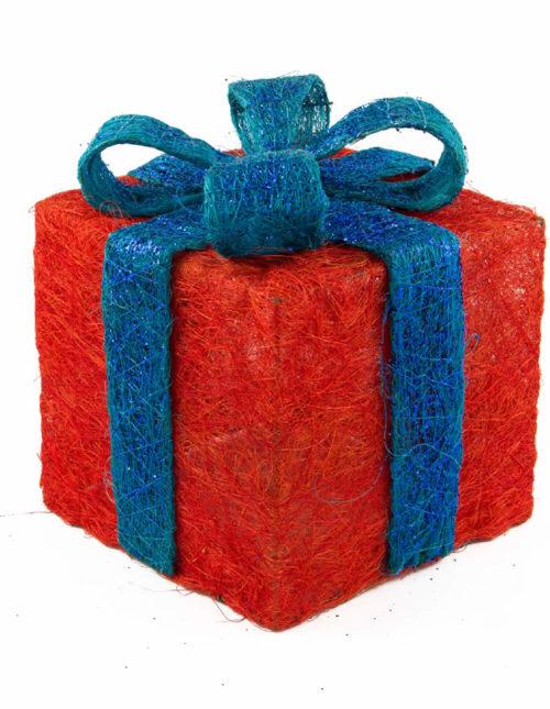 Magenta Sisal Gift Box No 2.