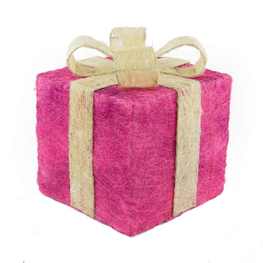 Magenta Sisal Gift Box