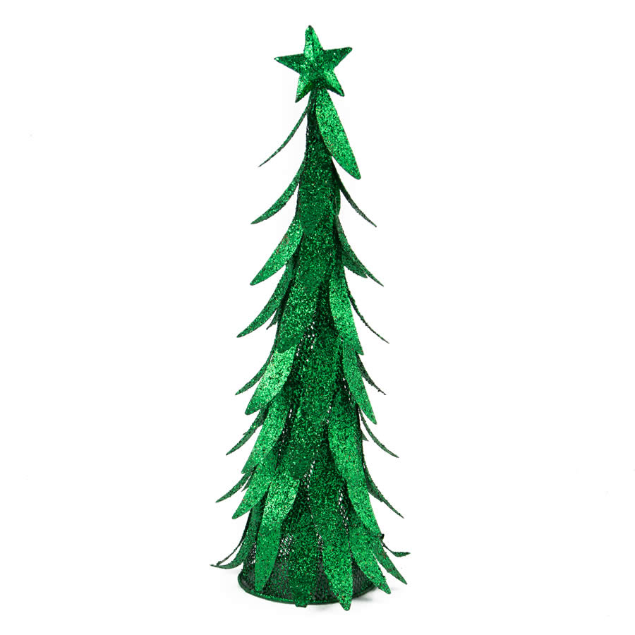 Green Metal Tree 40cm