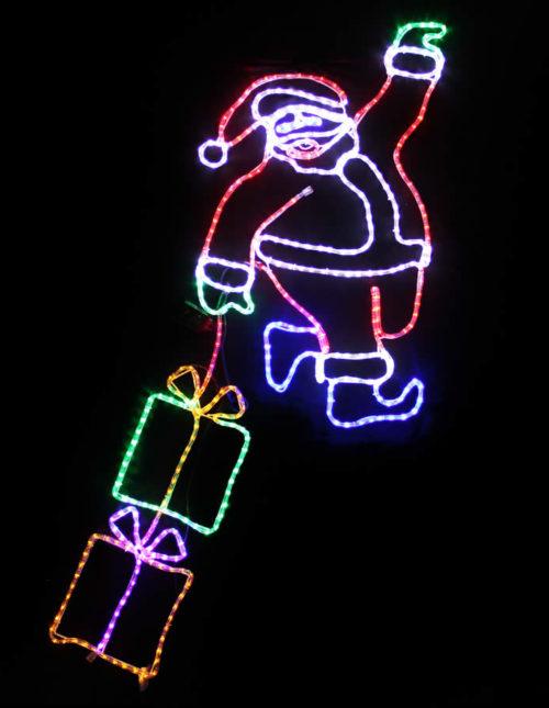 Hanging Santa with Gifts Motif