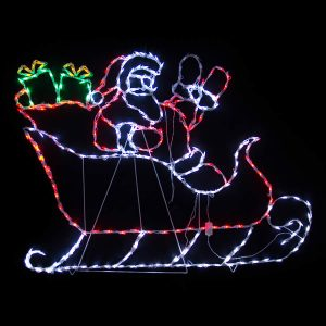 Waving Santa in Sleigh LED