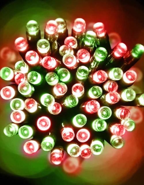 200 Red and Green LED Green Wire