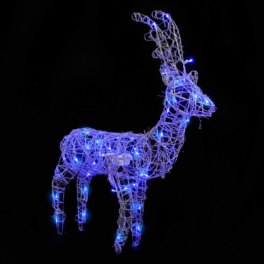 Silver Rdeer Blue LED S/S