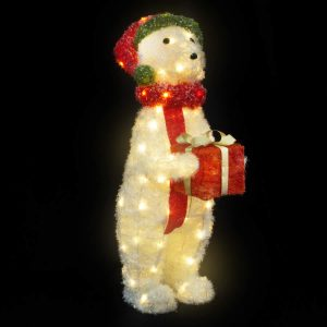 Standing Crystal Bear 90cm w/Lights