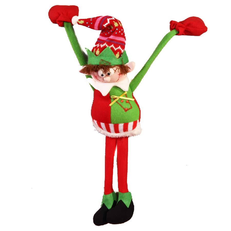 Slim Leg Hanging Elf With Heavy Hand - 30cm