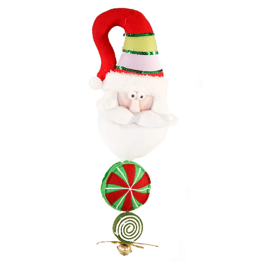 Candy Door Hanger Santa Bell On End - 45cm
