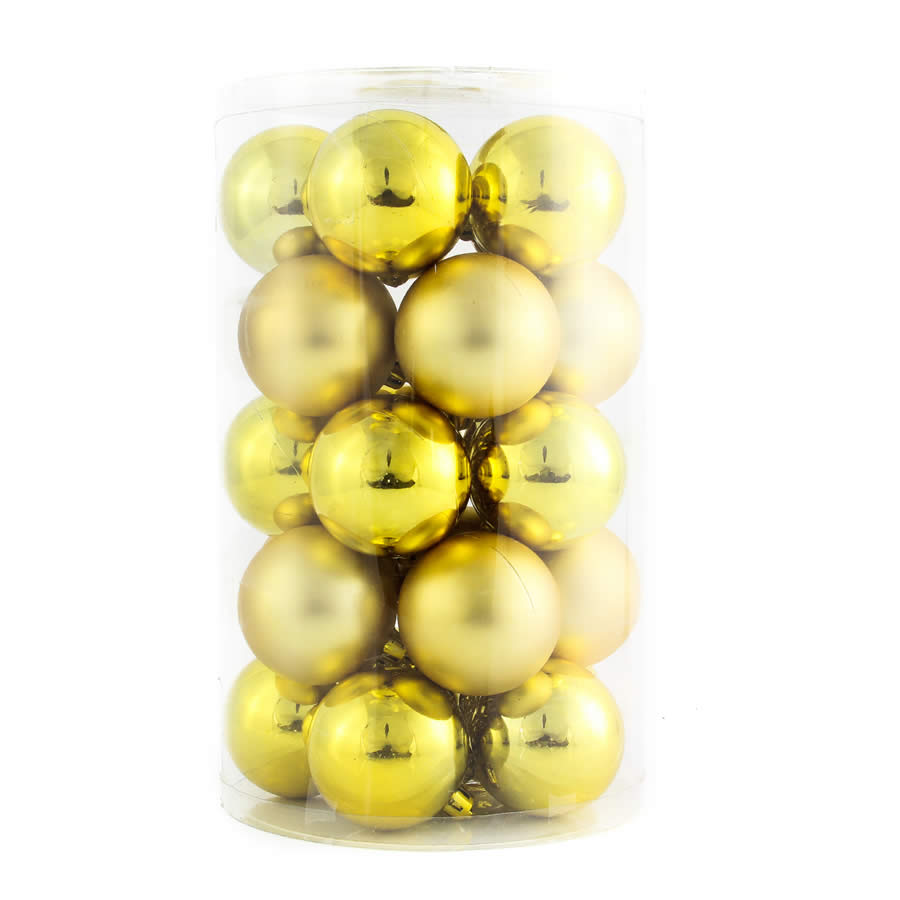 Gold Baubles 24pk 60mm