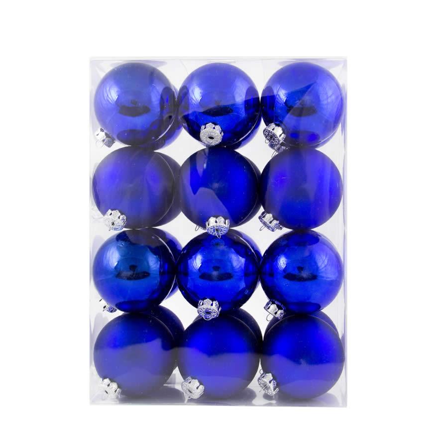 24Pk 6Cm Blue Baubles