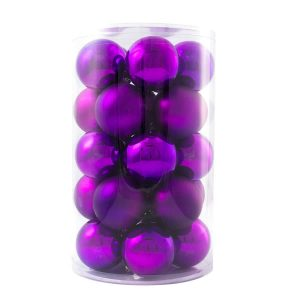 Purple Baubles 24pk 60mm