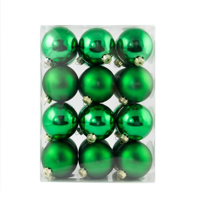 green Baubles 60mm 24 Pack