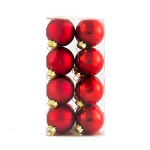 Red Baubles 40mm