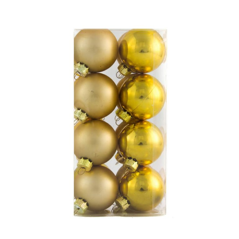 Gold Baubles 40mm