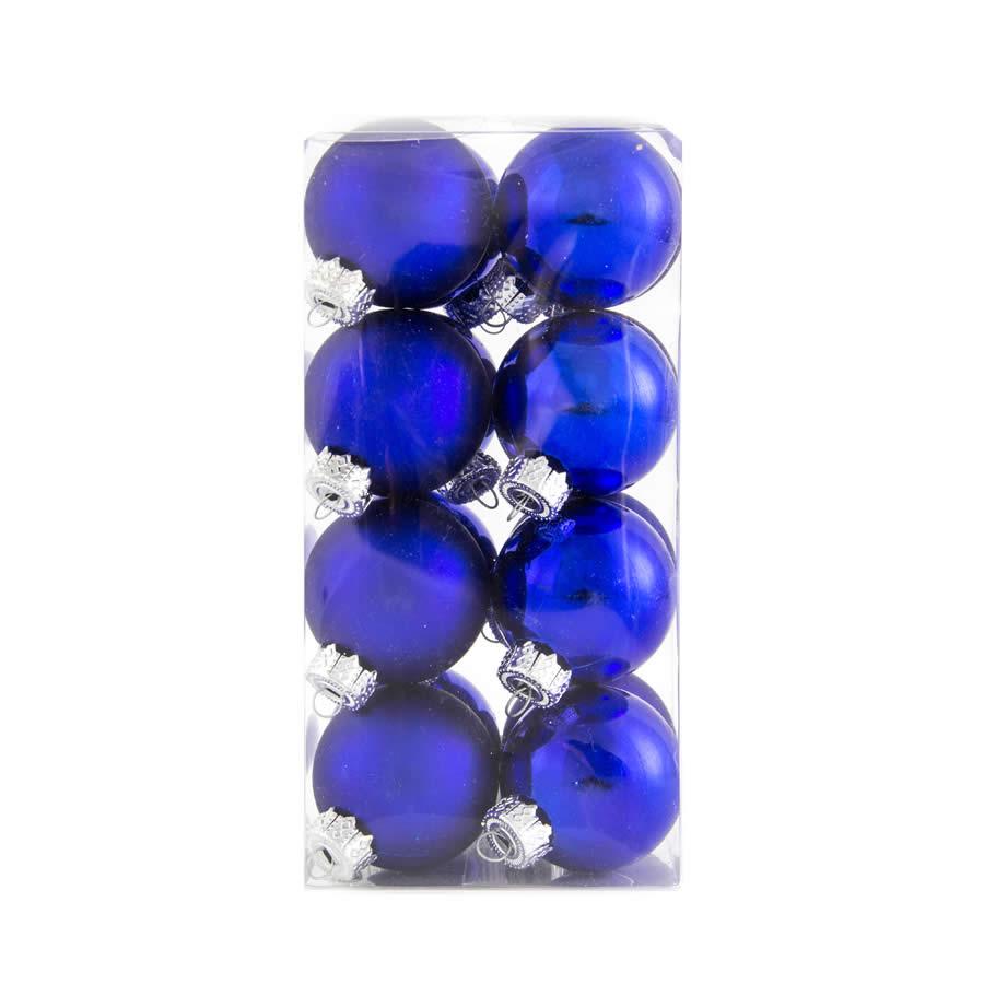 Blue Baubles 40mm