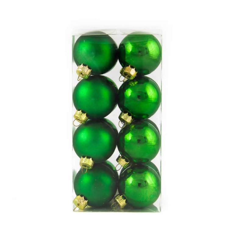 green Baubles 40mm 8 Pack