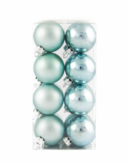 Light Blue Baubles 40mm