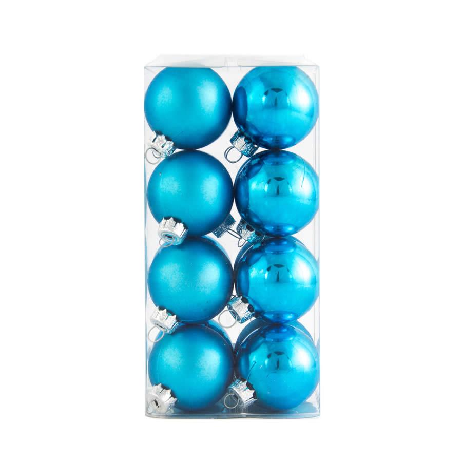 4cm Bauble 16pk Turquoise