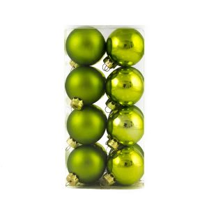 Lime Baubles 40mm