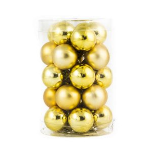 Gold Baubles 25mm