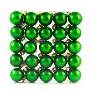 green Baubles 25mm 25 Pack