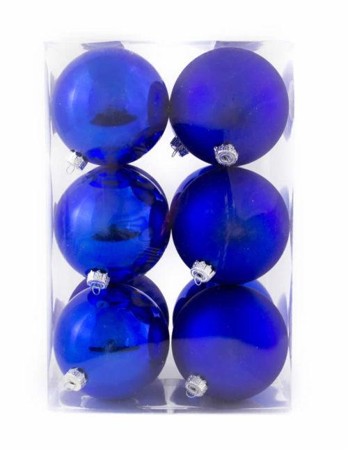 Blue 8Cm 12Pk Baubles