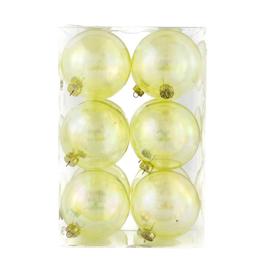 Lime 8Cm 12Pk Baubles