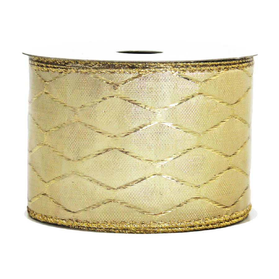 Gold Jaquad Ribbon 9M