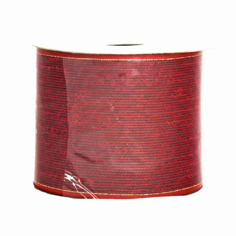 Red Metallic Cotton Ribbon 9M