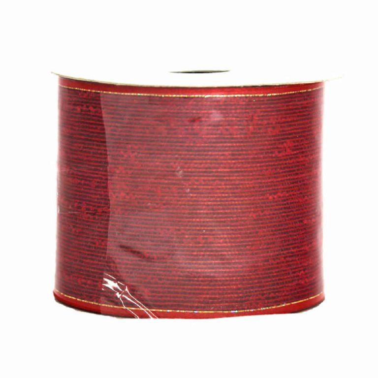Red Metallic Cotton Ribbon 9M