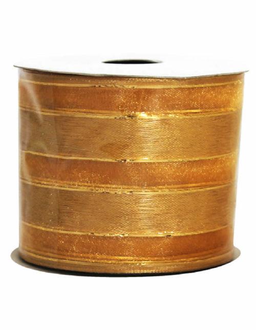 Gold Metallic Mosaic Ribbon 9M