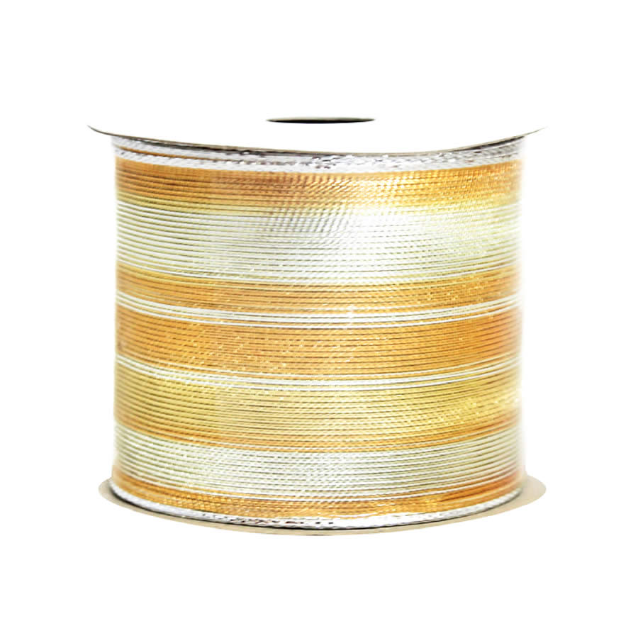 Two Tone Gold Woven Ribbon 9M
