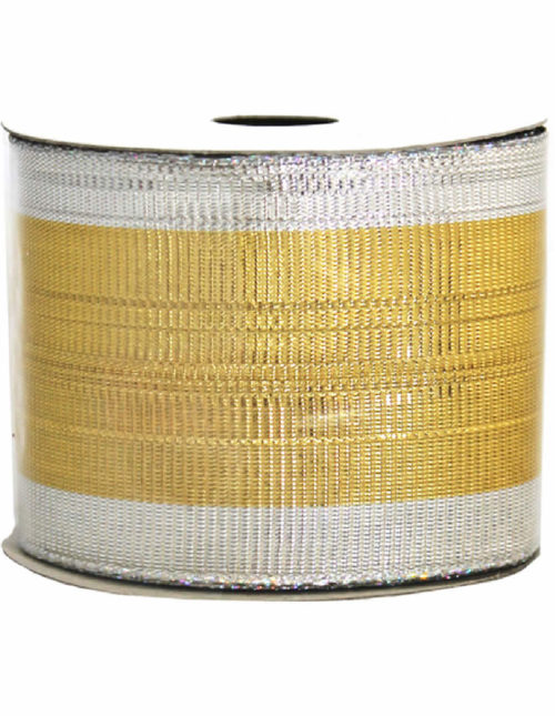 Gold-Silver Metallic Ribbon 9M