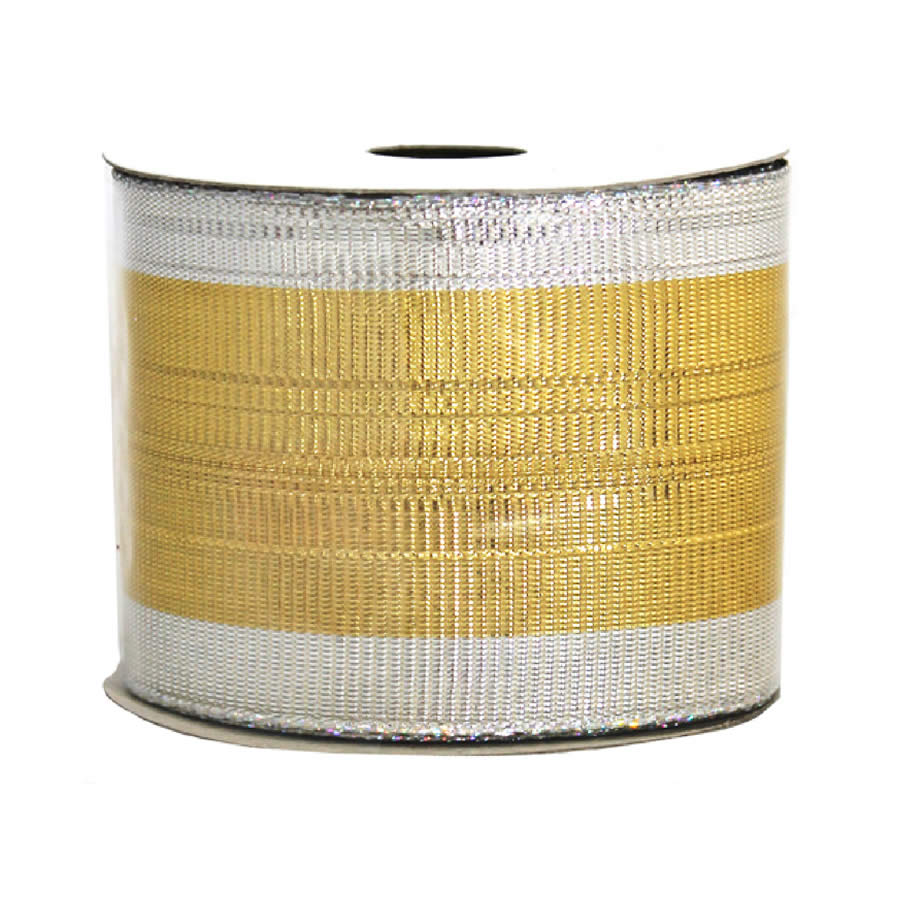 Gold-Silver Metallic Ribbon 9M