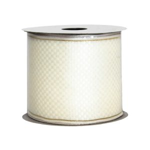 Ivory Ribbon Gold Edge 9M