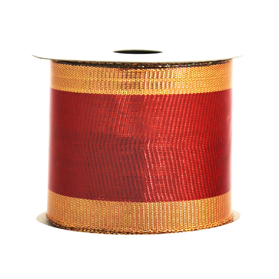 Gold Edge Metallic Ribbon 9M