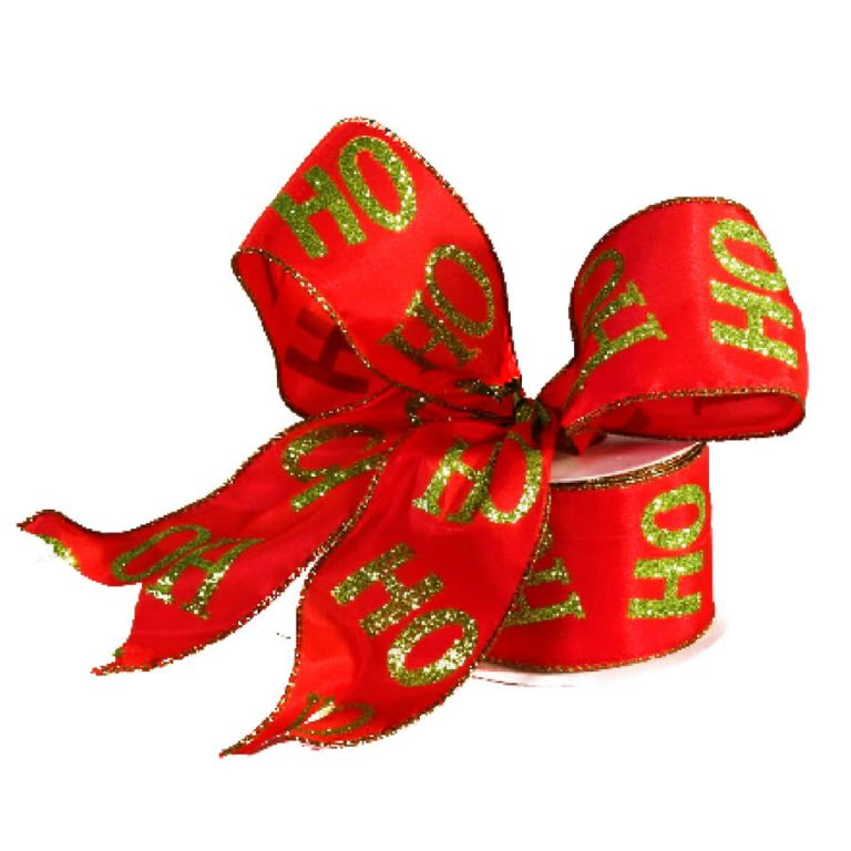 Ho Ho Ho Red & Lime Ribbon 9M