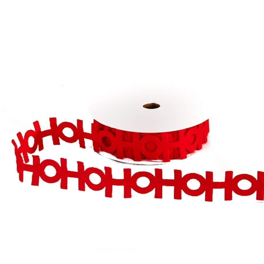 Ho Ho Ho Cut Out Ribbon 9M