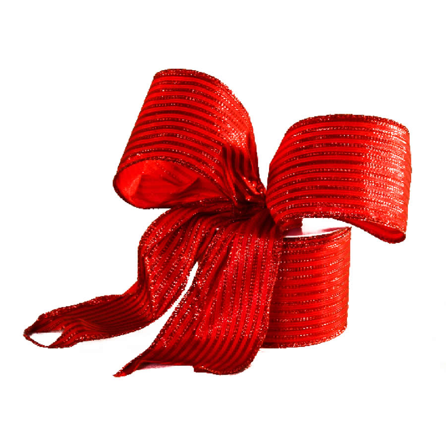 Red Satin Stripe Ribbon 9M