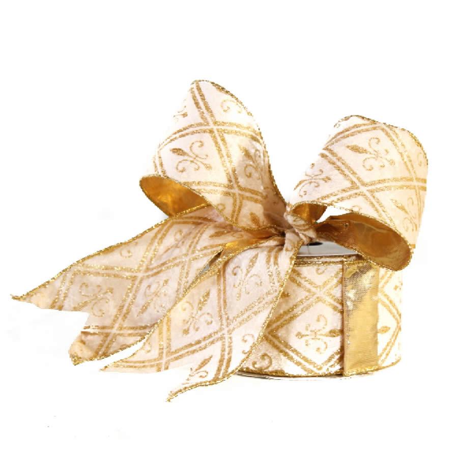 Ivory Gold Diamond Ribbon 9M