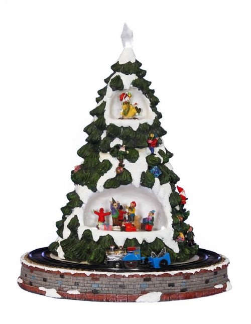 Tree Village With Train - 55cm