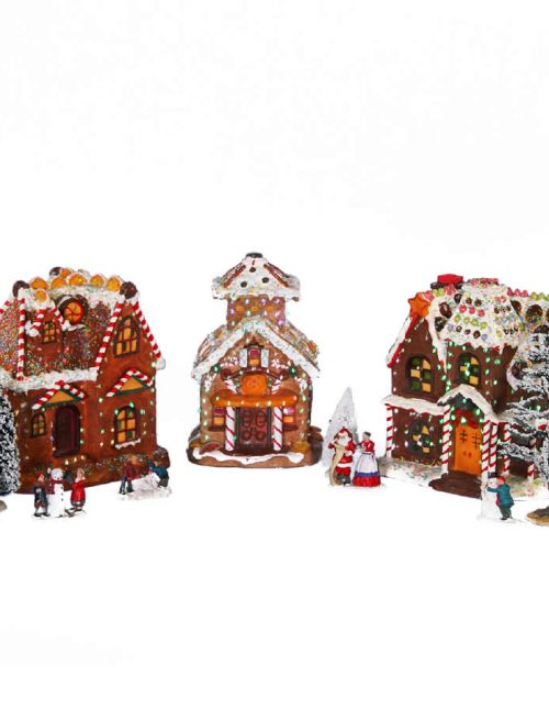 Candy Houses Set Of 3 - 30cm