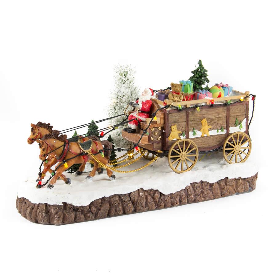Santas Horse Drawn Carriage anim/music
