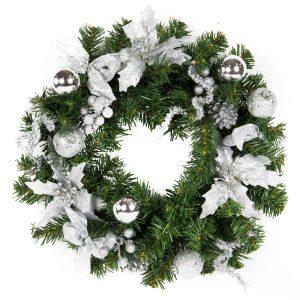 Silver Wreath 40cm