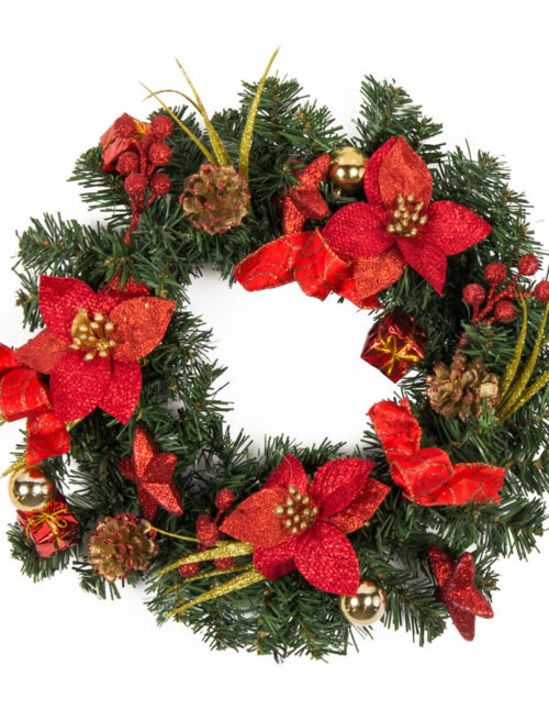 Red Wreath 50Cm